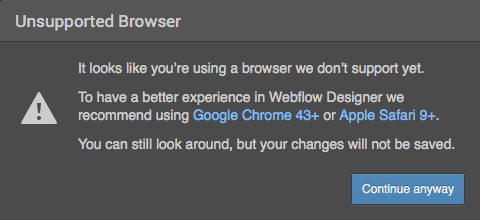 It looks like you're using a browser we don't support yet…
