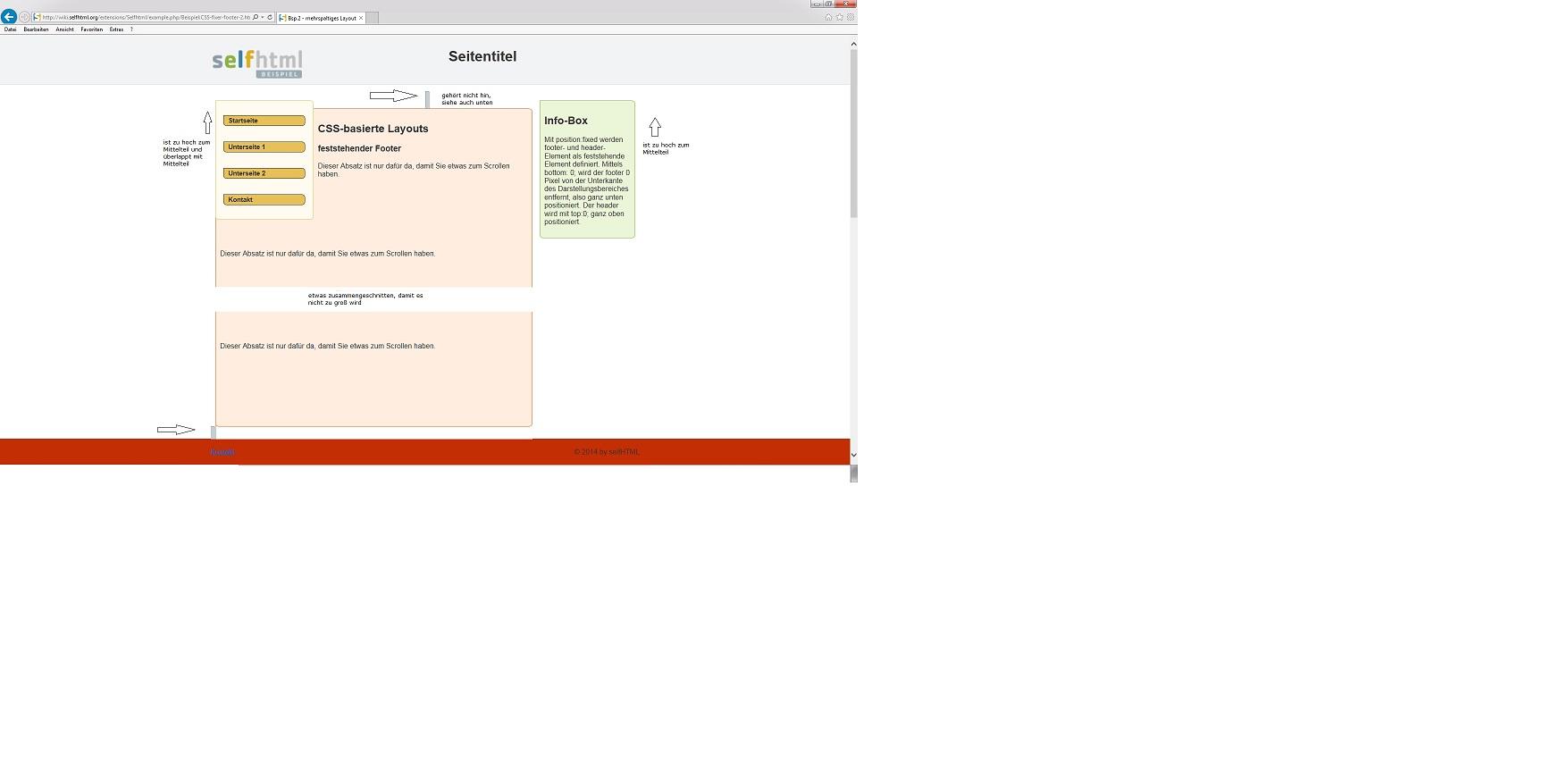Layoutproblem bei IE20 mit fixed header von Detlef Mietke, 20.20 ...
