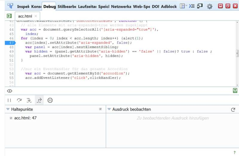 Screenshot debugger firefox59